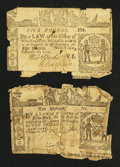 Colonial Notes:New York, New York February 16, 1771 10s Very Good and £5 Fine.. ... (Total:2 lots)