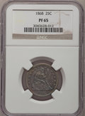 Proof Seated Quarters, 1868 25C PR65 NGC....