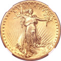 High Relief Double Eagles, 1907 $20 High Relief, Flat Rim--Improperly Cleaned--NGC Details.AU....
