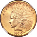 Indian Eagles, 1914-D $10 MS64 NGC. CAC....