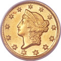 Gold Dollars, 1851-D G$1 MS63 PCGS. Variety 3-E....