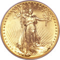 High Relief Double Eagles, 1907 $20 High Relief, Flat Rim MS65 PCGS. ...