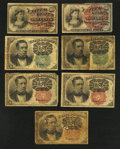 Fractional Currency:Fifth Issue, Fourth Issue Notes Three Examples Good. Fifth Issue Notes NineExamples Good.. ... (Total: 14 notes)
