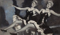 Pin-up and Glamour Art, ANDREW LOOMIS (American, 1892-1959). Cabaret Dancers. Oil oncanvas board. 18 x 30 in.. Signed upper left. ...