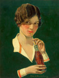 Mainstream Illustration, CHARLES ARCHIBALD MACLELLAN (American, 1885-1941). Coca-Colaadvertising illustration. Oil on canvas. 19 x 14.5 in.. Sig...