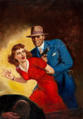 Paintings, GEORGE ROZEN (American, 1895-1974). Super Detective pulp cover, May 1947. Oil on canvas. 23 x 16 in.. Signed lower right...