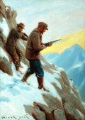 Mainstream Illustration, FRANK STICK (American, 1884-1966). Big Game Hunters. Oil oncanvas. 25 x 18 in.. Signed lower left. ...