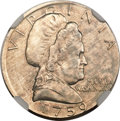 "Patterns, (1982) ""1759"" Martha Washington ""Cent""--Struck on a Dime Blank--MS63 NGC...."
