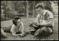 "James Dean and Elizabeth Taylor in ""Giant"" (Warner Brothers, 1956). Photo (6.5"" X 9.5""). Drama"