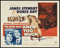 """Movie Posters:Hitchcock, The Man Who Knew Too Much (Paramount, 1956). Autographed Half Sheet(22"""" X 28""""). Hitchcock.. ..."""