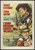 "Movie Posters:Western, The Man Who Shot Liberty Valance (Paramount, 1962). Italian 4 - Foglio (55"" X 78""). Western.. ..."