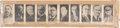 "Non-Sport Cards:Sets, 1925 W589 Anonymous ""Presidents"" Uncut Strip (10)..."