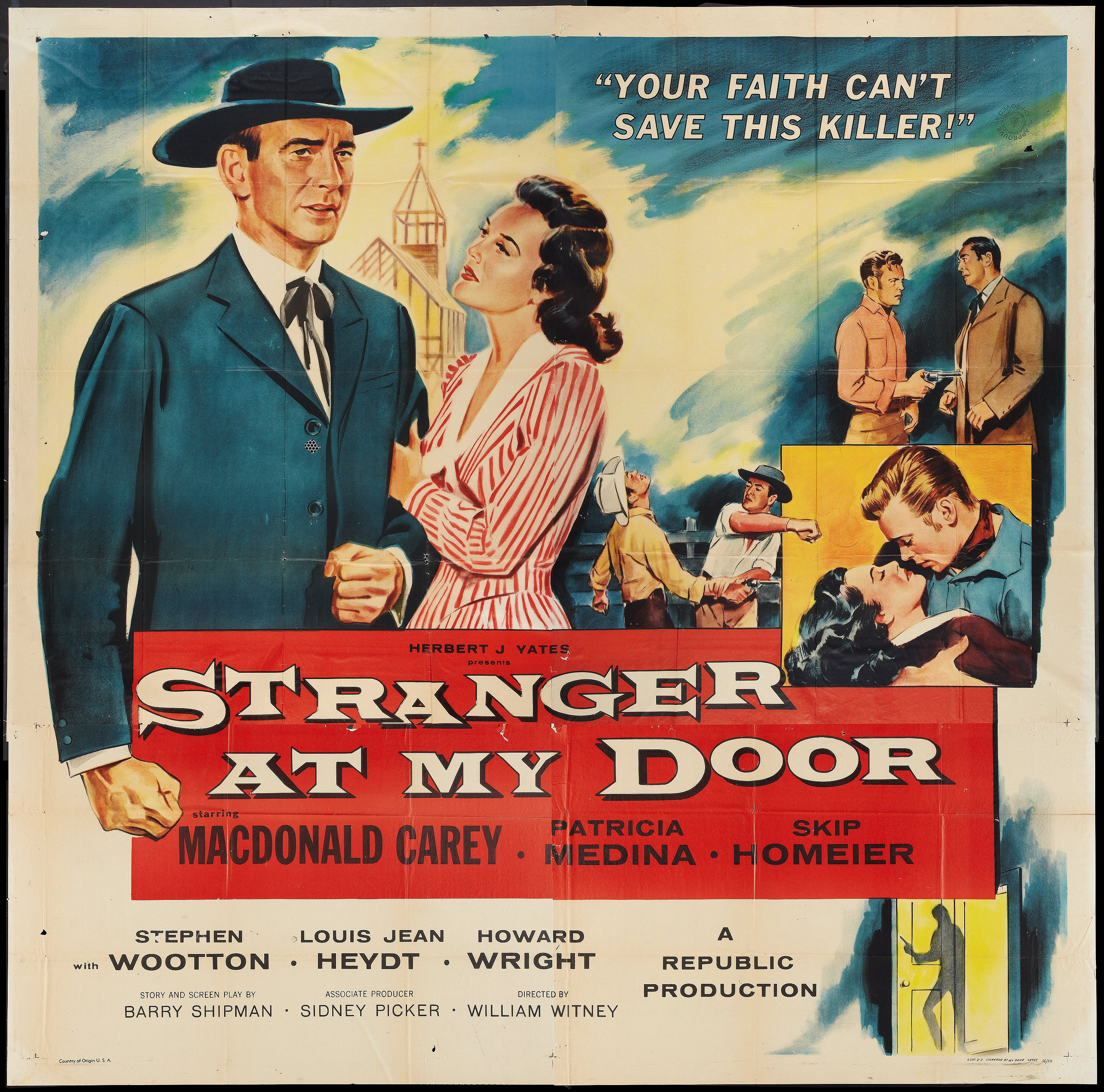 "Stranger at My Door (Republic, 1956). Six Sheet (81"" X 81""). 