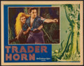 "Movie Posters:Adventure, Trader Horn (MGM, 1931). Lobby Card (11"" X 14""). Adventure.. ..."