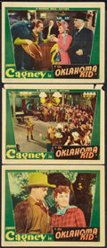 "Movie Posters:Western, The Oklahoma Kid (Warner Brothers, 1939). Lobby Cards (3) (11"" X 14""). Western.. ... (Total: 3 Items)"