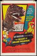 "Movie Posters:Science Fiction, The Beast of Hollow Mountain (United Artists, 1956). One Sheet (27""X 41"") and Pressbook (Multiple Pages, 11"" X 17""). Scienc... (Total:2 Items)"