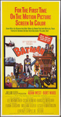 "Movie Posters:Action, Batman (20th Century Fox, 1966). Three Sheet (41"" X 81""). Action....."
