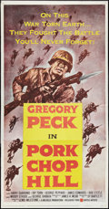 "Movie Posters:War, Pork Chop Hill (United Artists, 1959). Three Sheet (41"" X 81"").War.. ..."