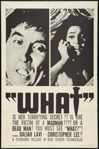 "The Whip and the Body (Futuramic, 1965). One Sheet (27"" X 41""). Horror. Alternative Title: What!"