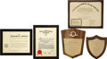 Movie/TV Memorabilia:Awards, Glenn Ford's Various Award Plaques.... (Total: 5 )