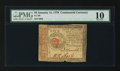 Colonial Notes:Continental Congress Issues, Continental Currency January 14, 1779 $4 PMG Very Good 10.. ...