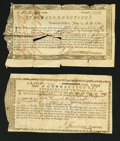 Colonial Notes:Connecticut, Connecticut Treasury Office Certificates June 1, 1780 and Feb. 1, 1781.. ... (Total: 2 notes)