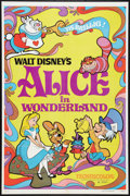 "Movie Posters:Animation, Alice in Wonderland Lot (Buena Vista, R-1981). One Sheets (5) (27"" X 41""). Animation.. ... (Total: 5 Items)"
