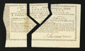 Colonial Notes:Connecticut, Connecticut Treasury Office Certificate Feb. 1, 1781. ...