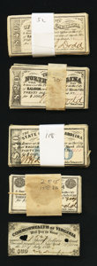 Confederate Notes:Group Lots, Confederate Bond Coupons. 218 Examples.. ... (Total: 218 items)