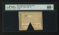 Colonial Notes:Massachusetts, Massachusetts May 5, 1780 $3 PMG Extremely Fine 40 EPQ.. ...