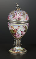 Silver Holloware, Continental:Holloware, A VIENNESE SILVER GILT AND ENAMEL COVERED STANDING CUP . HermannBöhm, Vienna, Austria, circa 1867-1874. Marks: HB, A. 6...