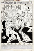 Original Comic Art:Splash Pages, Jose Delbo and Dave Hunt Transformers #45 Splash page 1Original Art (Marvel, 1988)....