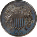 Patterns, 1863 2C Two Cents, Judd-312, Pollock-377, R.4, PR66 Brown NGC....