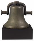 Bronze:American, An American Bronze Bell. Unknown Maker, USA. Nineteenth century.Cast Bronze. 24 x 16 inches. ...