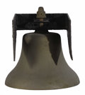 Bronze:American, An American Bronze Bell. Unknown maker, USA. Nineteenth century. Cast Bronze. Unmarked . 19.5 inches high x 18 inches wide...