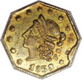 California Fractional Gold, 1853 50C Peacock Reverse 50 Cents, BG-302, Low R.4, MS63 NGC....