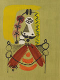 Prints, Pablo Picasso (Spanish, 1881-1973). . Imaginary Portraits (#20 of a series of 29) . 1969. Lithograph. Signed...