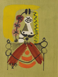 Pablo Picasso (Spanish, 1881-1973)  Imaginary Portraits (#20 of a series of 29)
