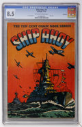 Golden Age (1938-1955):War, Ship Ahoy #1 Vancouver pedigree (Spotlight, 1944) CGC VF+ 8.5Off-white to white pages....
