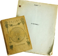 """Marian Marsh's """"Svengali"""" Script and 1895 Edition of """"Trilby."""" Based on George du Maurier's 1894 cla..."""