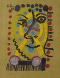 Prints, Pablo Picasso (Spanish, 1881-1973). . Imaginary Portraits (#29 of a series of 29) . 1969. Lithograph. Signed...