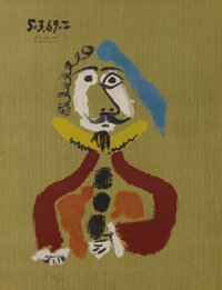 Pablo Picasso (Spanish, 1881-1973)  Imaginary Portraits (#22 of a series of 29) </