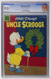 Uncle Scrooge #16 (Dell, 1956) CGC VF/NM 9.0 Off-white to white pages