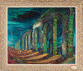 Movie/TV Memorabilia:Original Art, Ruins of a Roman Aqueduct (1961) by William Earl Singer (American, born 1909)....