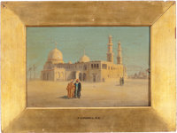 Landscape with Mosque (1880) by Frederick Goodall, R.A. (British, 1822-1904)