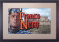 Movie/TV Memorabilia:Memorabilia, Camelot Framed Franco Nero Credit Title....