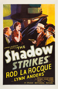 "The Shadow Strikes (Grand National, 1937). One Sheet (27"" X 41"")"