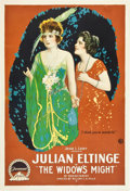 "Movie Posters:Comedy, The Widow's Might (Paramount, 1918). One Sheet (27"" X 41"").. ..."