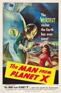 "Movie Posters:Science Fiction, The Man from Planet X (United Artists, 1951). One Sheet (27"" X 41"").. ..."