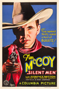 "Movie Posters:Western, Silent Men (Columbia, 1933). One Sheet (27"" X 41"").. ..."